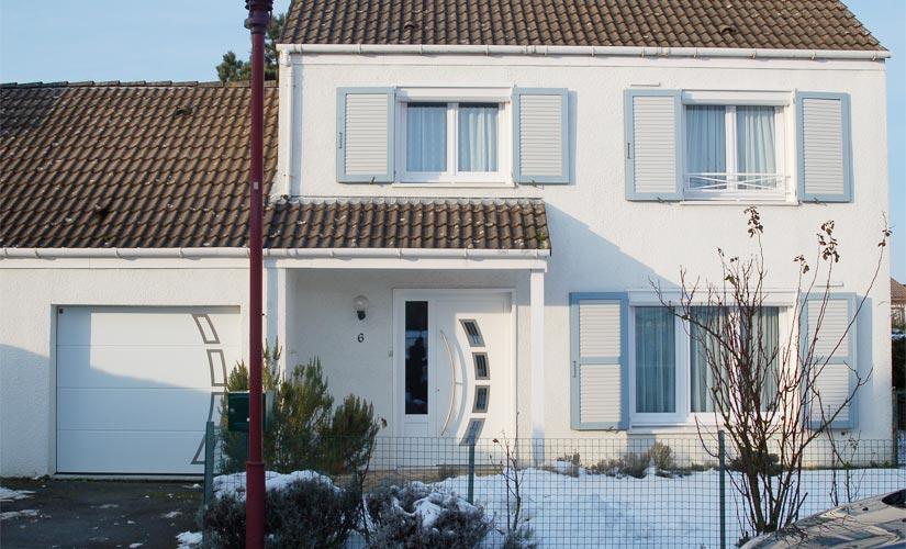 Menuiserie maison pvc blanc